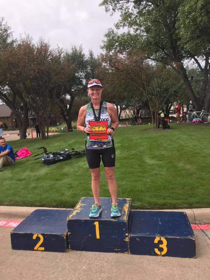 Arlene White of Mad Dog Triathlon Club at the Stonebridge Ranch Country Club in McKinney, Texas